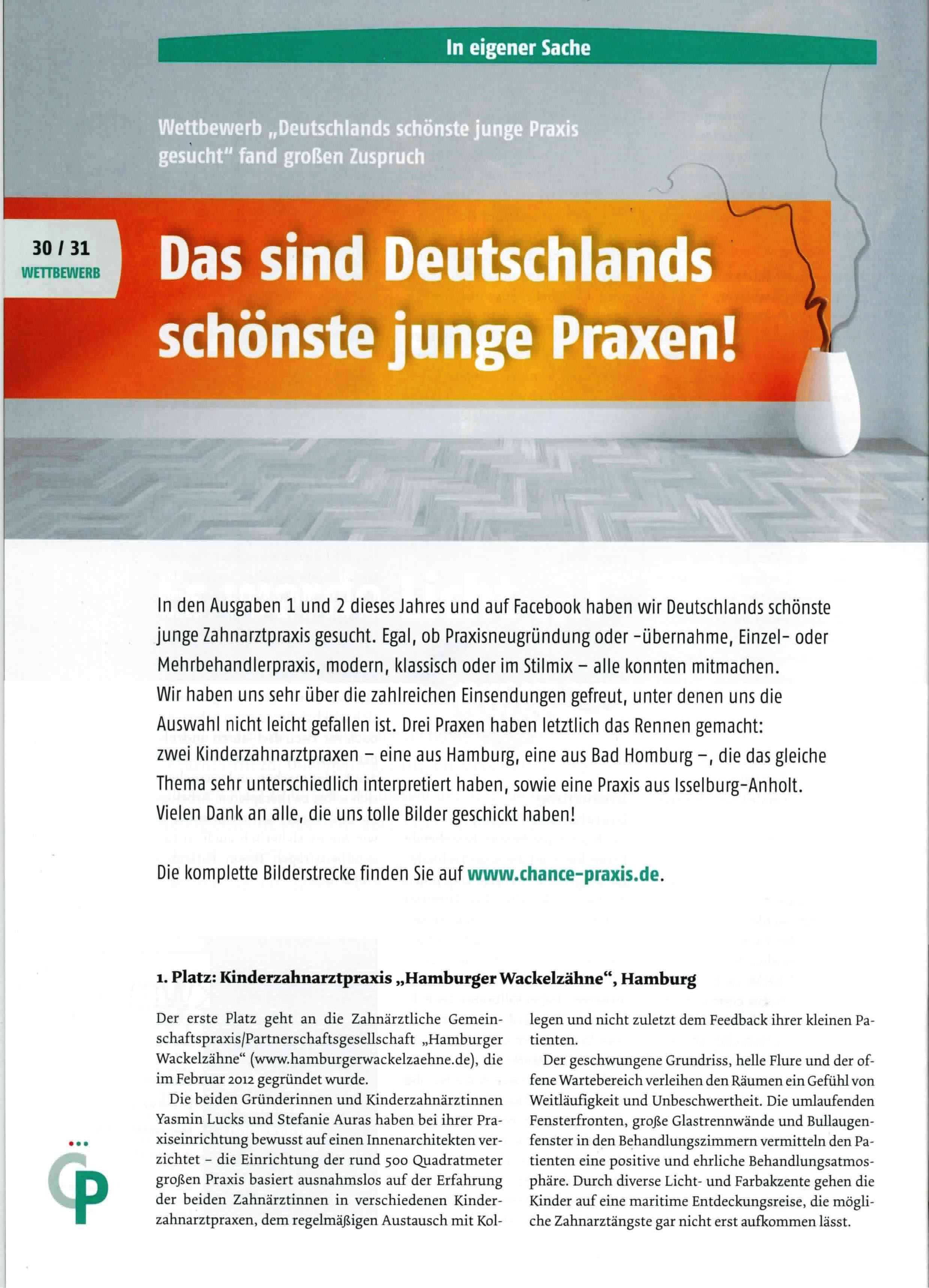 The most beautiful young dentist clinic in Germany: Chance Praxis - Article Page 2